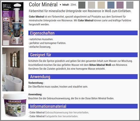 Beton Mineral Resinence Color by Epoxidharz Versieglung Auf Wasserbasis F 252 R Mineral Beton