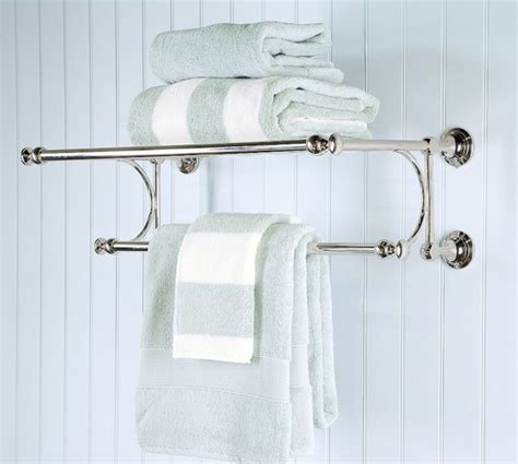 Bathroom Towel Bar With Shelf by Mercer Rack Traditional Towel Bars And Hooks