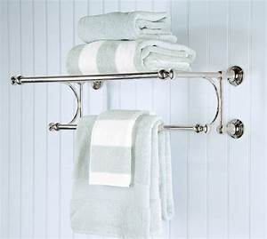Mercer train rack traditional towel bars and hooks for Where to put towel bar in small bathroom