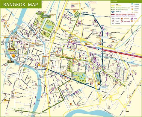 bts bangkok thailand airport map detail bangkok map