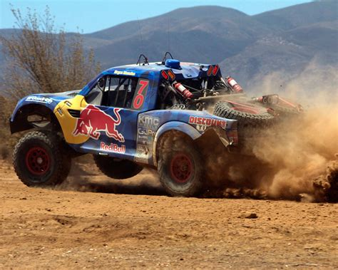 baja trophy truck menzies motosports conquer baja in the red bull trophy