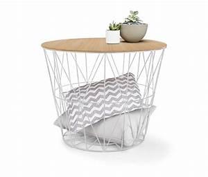 Drahtkorb Tisch Weiß : der gro e drahtkorb ist vielseitig einsetzbar und bringt auf dekorative weise viel stauraum mit ~ Yasmunasinghe.com Haus und Dekorationen