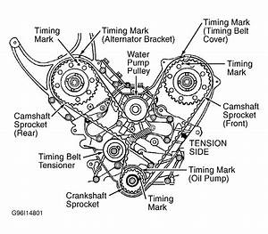 1998 Mitsubishi 3000gt Serpentine Belt Routing And Timing Belt Diagrams