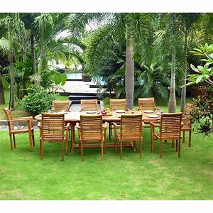 Salon De Jardin En Promo : ensemble salon de jardin en teck en promotion table 10 fauteuils en teck raja ~ Teatrodelosmanantiales.com Idées de Décoration