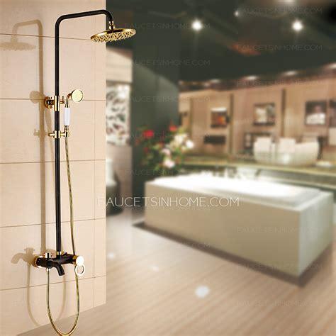 high  brass black antique bronze shower faucet system