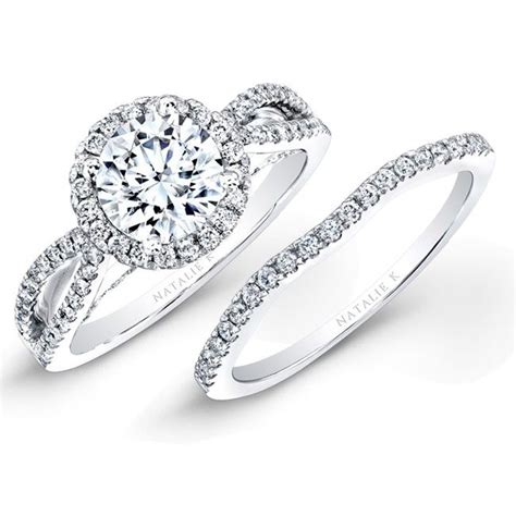 bridal wedding ring sets best 25 circle wedding rings ideas on circle rings circle engagement rings