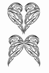 Heart and Fairy Wing Tribal by aziroth on DeviantArt