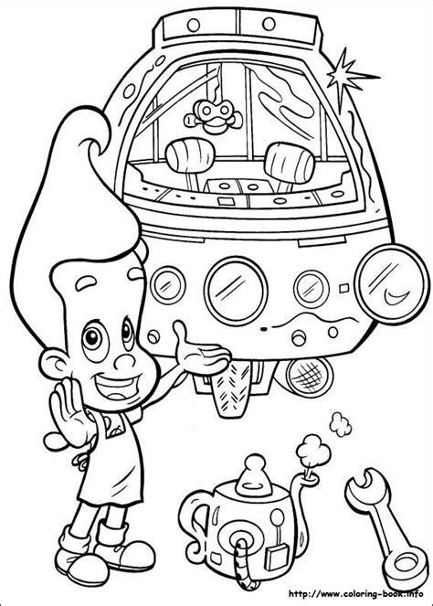 jimmy neutron coloring pages images  pinterest jimmy neutron art drawings