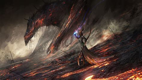lava deviantart digital world of warcraft deathwing artwork