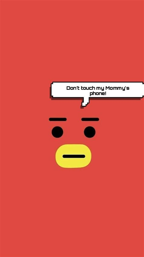Hd wallpapers and background images. #TATA #BT21 #WALLPAPER Don't touch my Mommy's phone! | Wallpaper lucu, Teks lucu, Buku gambar