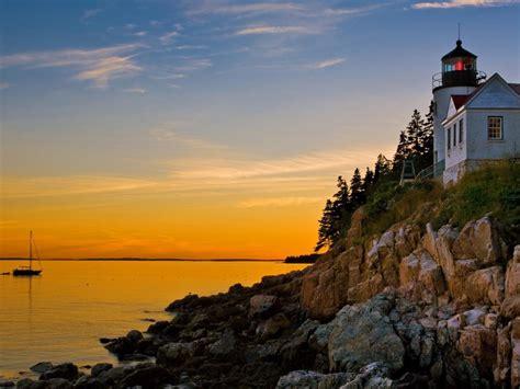 wallpaper bass harbor lighthouse acadia national park