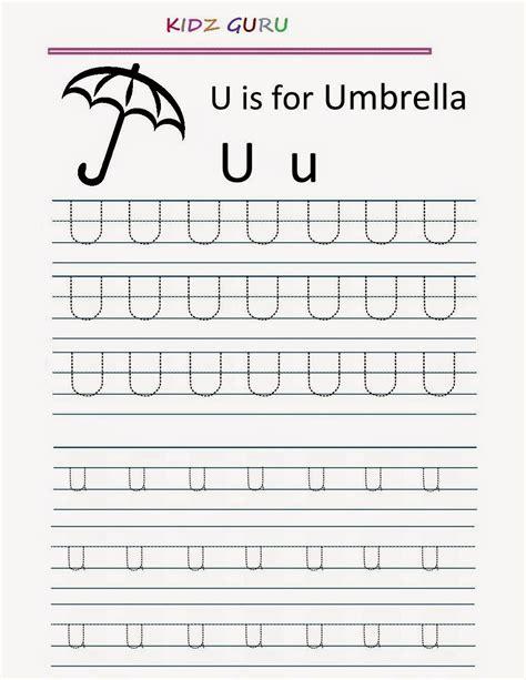 tracing alphabet worksheets for kindergarten tracing