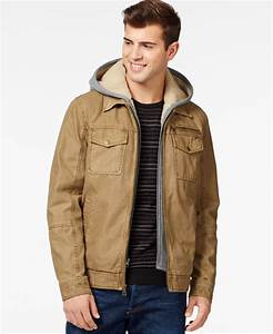 Guess Trucker Jacket With Removable Hood in Natural for ...