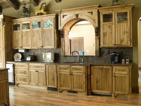 Wooden Rustic Kitchen Cabinets  The Interior Design