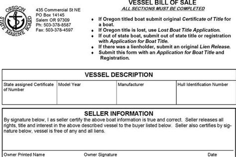 Boat Bill Of Sale Maine by Bill Of Sale Form Download Free Premium Templates
