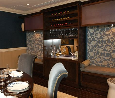 Dining Room With Bar by Formal Dining Room Meets Swanky Lounge