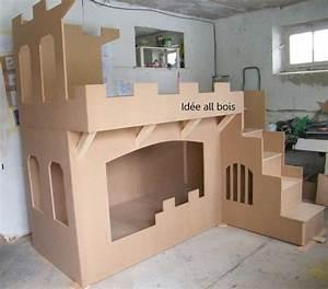 Lit Superposé Princesse : lit ch teau meubles en carton pinterest lit ch teau ~ Teatrodelosmanantiales.com Idées de Décoration