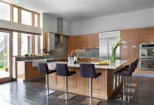 cuisine en l moderne avec ilot en 108 photos magnifiques With salon de jardin pour enfants 2 bar en angle moderne noir et blanc basil decoration