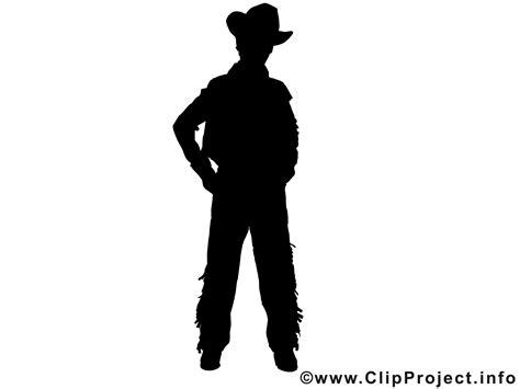 silhouette cowboy clipart