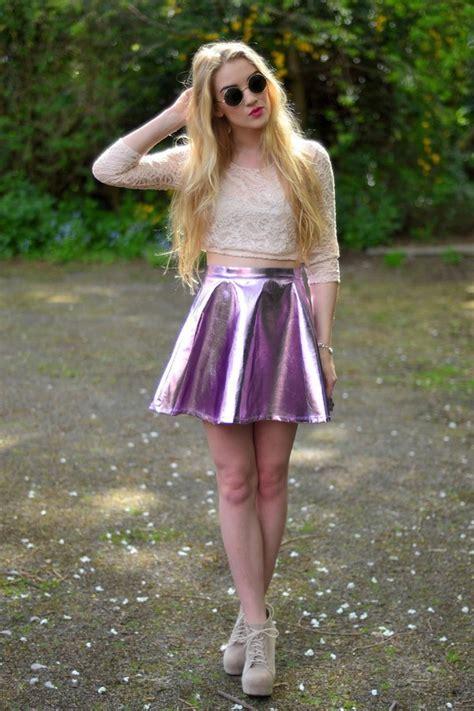 Kitty Metallic Skater Skirt