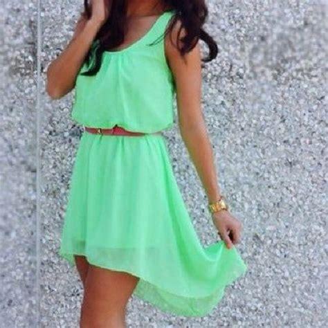 dress green green dress cute high  dress short