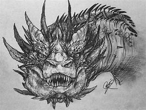 Smaug doodle by Scuro-Shadine on DeviantArt