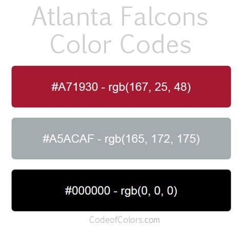 atlanta falcons colors hex and rgb color codes