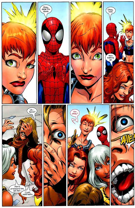spiderman  jean grey