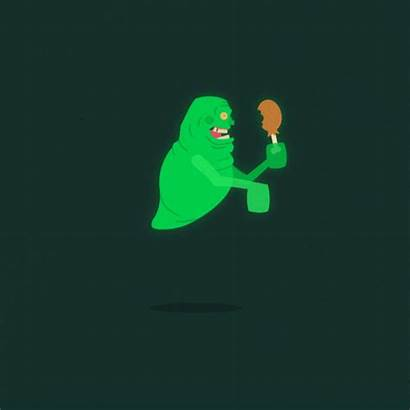 Horror Slimer Characters Halloween Animated Monsters Gifs