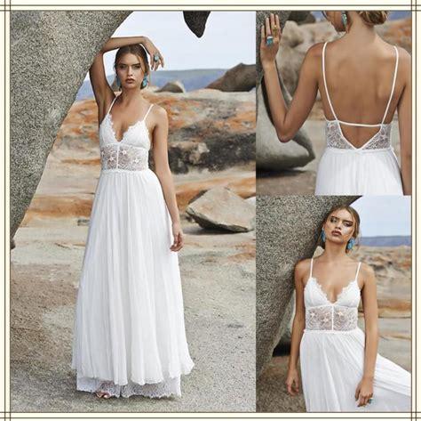 Amzing Bohemian Style Wedding Dresses Chiffon Garden