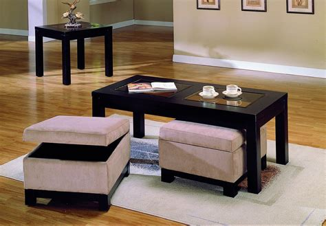 Ottoman With Stools Underneath by Homelegance Symphony Cocktail Table Ottoman Peat