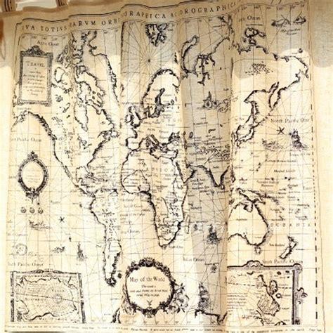 Balloon Shade Curtains by World Map Curtain