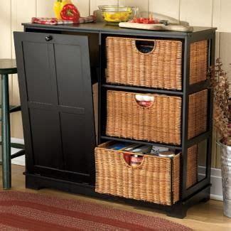 kitchen garbage storage wood pantry with tilt out trash bin black trashcans 1759