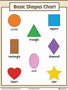 Basic Geometric Shapes Printable Chart Color