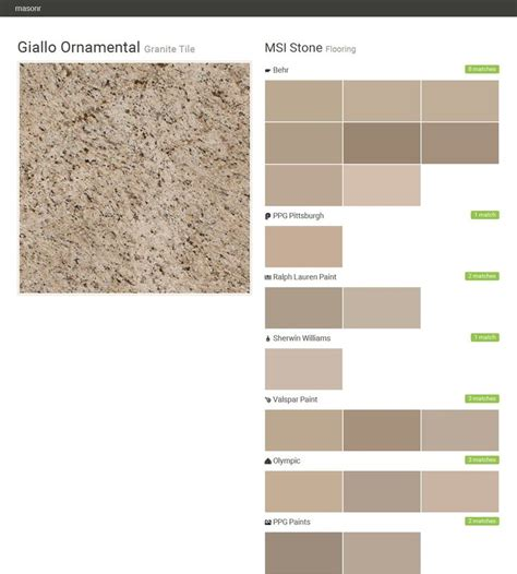 giallo ornamental granite tile flooring msi stone behr ppg pittsburgh ralph paint