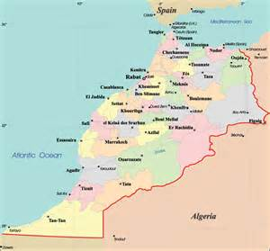 Detailed administrative map of Morocco with cities. Morocco detailed ... Morocco