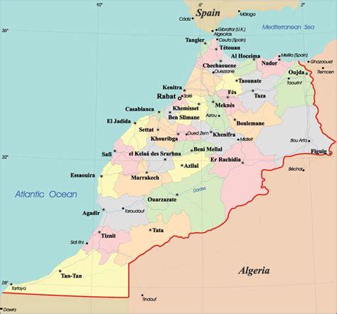 Carte Maroc Avec Villes by Marokko Karte St 228 Dte