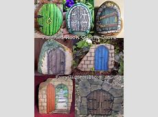 These are my favorite fairy gnome doors If you don't know