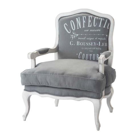 fauteuil en gris clair confection maisons du monde