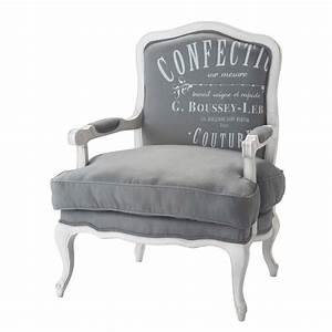 Fauteuil Gris Clair : fauteuil en lin gris clair confection maisons du monde ~ Teatrodelosmanantiales.com Idées de Décoration