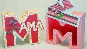 Geschenkbox Selber Basteln : muttertagsgeschenke basteln mama geschenkbox buchstabenbox zum muttertag basteln youtube ~ Watch28wear.com Haus und Dekorationen