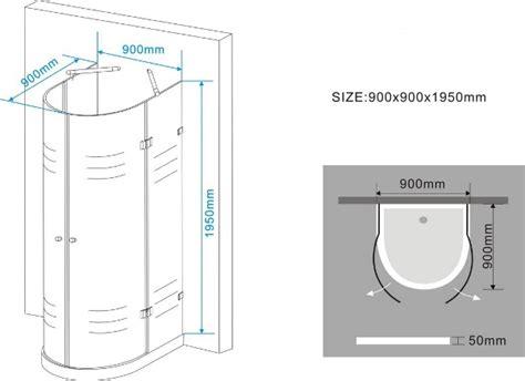cabine doccia misure cabina doccia semicircolare con 2 ante battenti vetro
