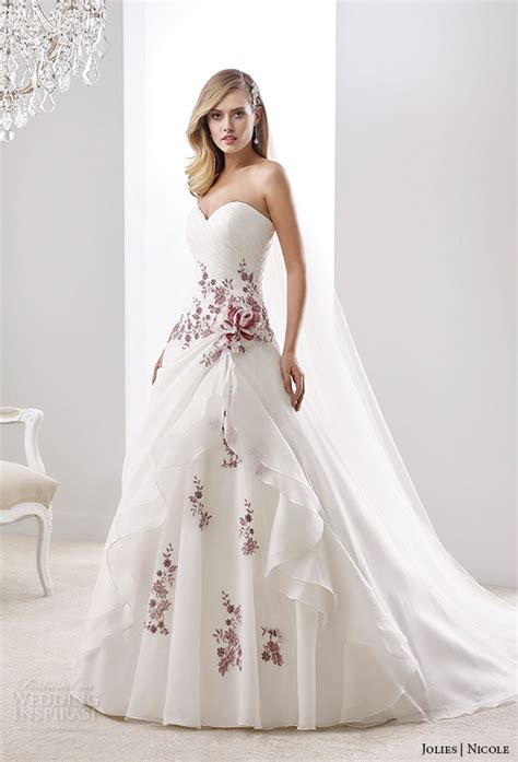 nicole jolies collection  colored wedding dresses
