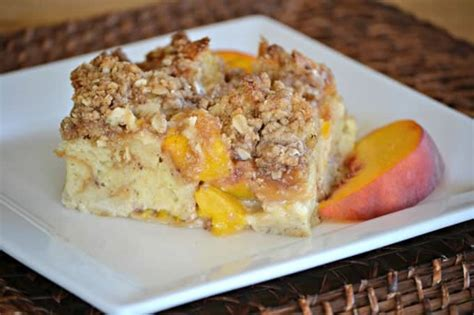 Peaches Cream Baked French Toast