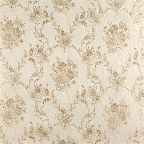 Brocade Upholstery Fabric - a0014d ivory embroidered floral brocade upholstery drapery