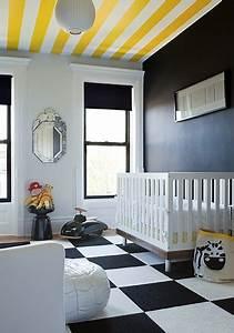 Yellow and Black Nursery - Contemporary - nursery - The