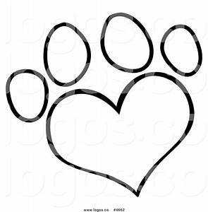 Dog Paw Print Outline Clip Art 45