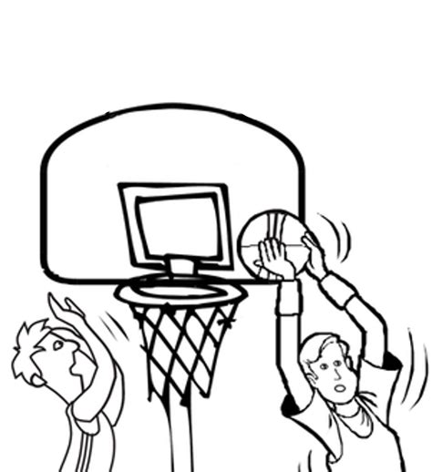 Print Download Interesting Basketball Coloring Pages