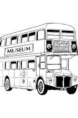 coloriage bus  imperiale de londres