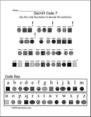 decoding secret code  elem fun secret code activity